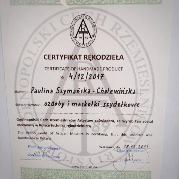 wydany przez Ogólnopolski Cech Rzemieślników Artystów